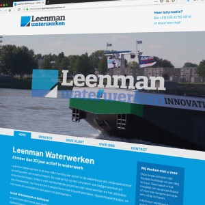 Website Leenman Waterwerken
